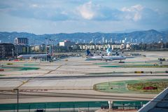 Aéroport international de Los Angeles Photos libres de droits