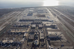 Aéroport international de Los Angeles et l'océan pacifique Images libres de droits