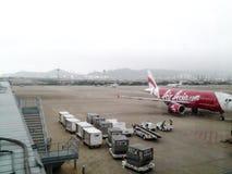 Aéroport international de Macao, brumeux, froid, hiver Photographie stock libre de droits