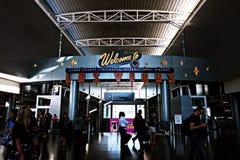 Aéroport international de McCarran à Las Vegas nanovolt Images libres de droits