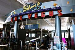 Aéroport international de McCarran à Las Vegas nanovolt Photographie stock libre de droits