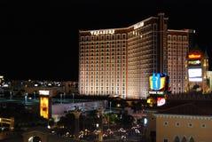 Aéroport international de McCarran, bande de Las Vegas, Las Vegas, le Palazzo, zone métropolitaine, nuit, ville, métropole Photographie stock
