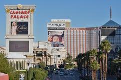 Aéroport international de McCarran, Caesars Palace, bande de Las Vegas, point de repère, ville, zone urbaine, voisinage Photo libre de droits