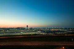 Aéroport international de Munich appelé à la mémoire de Franz Josef Strauss Photo libre de droits