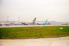 Aéroport international de Salonique Image libre de droits