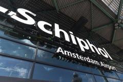 Aéroport international de Schiphol photo stock