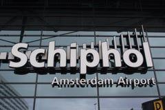 Aéroport international de Schiphol d'Amsterdam Hoilland Image stock