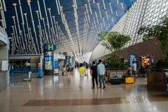 Aéroport international de Shanghai Pudong, Chine, terminal B de départ Images libres de droits