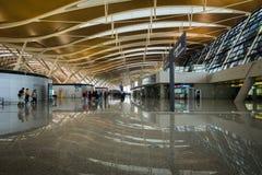 Aéroport international de Shanghai Pudong, Chine, terminal A de départ Photographie stock libre de droits