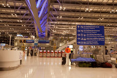 Aéroport international de Suvarnabhumi Bangkok Images stock