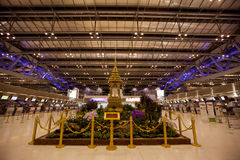 Aéroport international de Suvarnabhumi Bangkok Photographie stock
