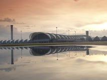 Aéroport international de Suwannabhumi, Bangkok Thaïlande dans le temps de matin Photo libre de droits