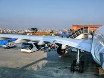 Aéroport international de Tribhuvan - Katmandou Photo stock