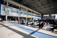 Aéroport international de Vladivostok, Russie Image libre de droits