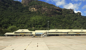 Aéroport international des Seychelles sur le Mahe Photos libres de droits