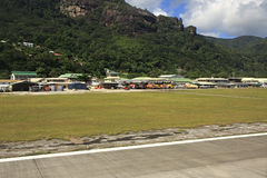 Aéroport international des Seychelles sur Mahe Island Image stock