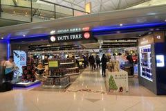 Aéroport international en Hong Kong Images libres de droits