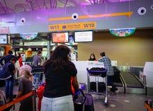 Aéroport international en Kuala Lumpur, Malaisie Images libres de droits