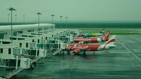 Aéroport international en Kuala Lumpur, Malaisie Photographie stock libre de droits