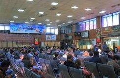 Aéroport international Népal de Katmandou Photographie stock libre de droits