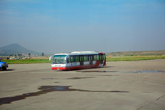 Aéroport international, Pyong Yang, Nord-Corée Photo libre de droits