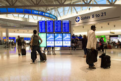 Aéroport international terminal de JetBlue JFK Image libre de droits