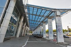 Aéroport international Zhuliany, Ukraine de Kyiv Photographie stock