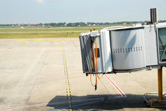 Aéroport jetway Image libre de droits