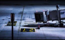 Aéroport jetway Photos libres de droits