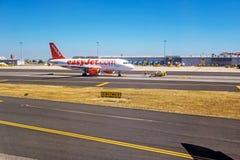Aéroport Lisbonne - Airbus A318 Photographie stock