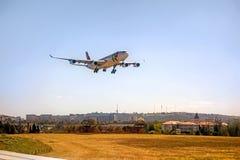 Aéroport Lisbonne - Airbus A318 Photos libres de droits