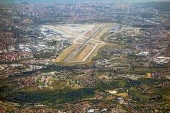Aéroport Lisbonne, piste Image stock