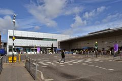 Aéroport Londres de Luton Photographie stock libre de droits