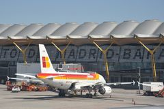 Aéroport Madrid-Barajas Image libre de droits