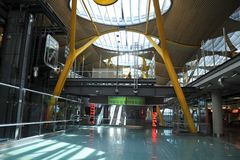 Aéroport Madrid-Barajas Images libres de droits