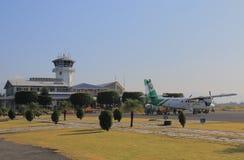 Aéroport Népal de Pokhara Photos stock