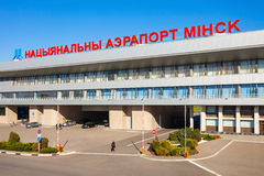 Aéroport national de Minsk, Belarus Image stock
