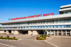 Aéroport national de Minsk, Belarus Photo stock