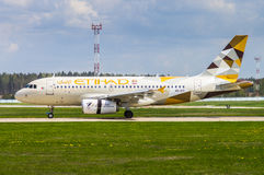 Aéroport national de Minsk, Minsk, Belarus - 6 mai 2016 : Airbus A3 Photo stock