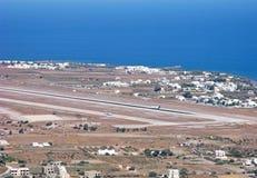 Aéroport national de Santorini, vue aérienne Photographie stock