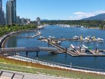 Aéroport neuf au port Vancouver de charbon Images libres de droits
