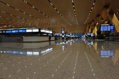 Aéroport neuf de Kunming, déviation Hall Photographie stock