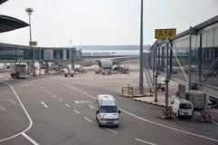 Aéroport occupé Image libre de droits