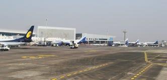 Aéroport occupé de Mumbai Images libres de droits