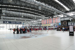 Aéroport Prague de Vaclav Havel Photo stock