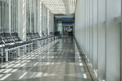 Aéroport, salle d'attente, voyageur Image libre de droits