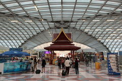 AÉROPORT SAVARNABHUMI DE L'ASIE THAÏLANDE BANGKOK Image stock