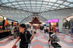 AÉROPORT SAVARNABHUMI DE L'ASIE THAÏLANDE BANGKOK Photo stock