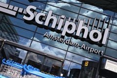 Aéroport Schiphol d'Amsterdam Photo stock