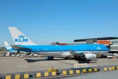 Aéroport Schiphol, Pays-Bas d'Amsterdam - mai 2018 : Lignes aériennes Boeing 747-400 de PH-BFI KLM Royal Dutch le Néerlandais de  Photo libre de droits